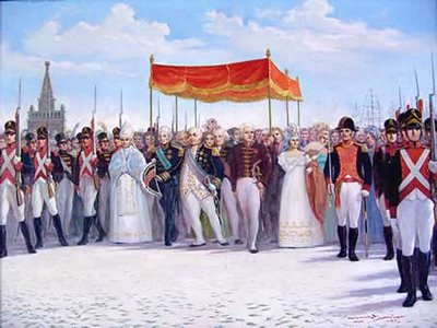 Brigada Real escolta comitiva de D.João VI
